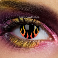 Gothic Contact Lenses   UL13 Hells Flame Contact Lenses (Pair)