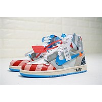 Parra X Off-white X Air Jordan 1 Custom Aa3834-108 Sneaker