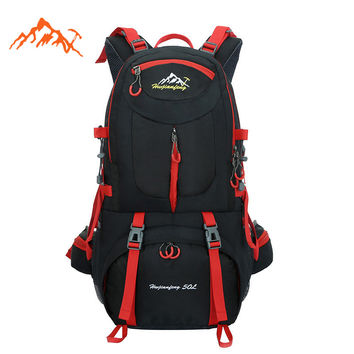 2016 Waterproof Travel Bag Sports Backpack Mountain Bag Climbing Cycling Bicycle Hiking Backpack 40L 50L