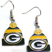 Green Bay Packers Knit Hat Earrings