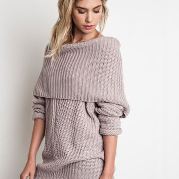 Freebird Ribbed Sweater (Mauve)