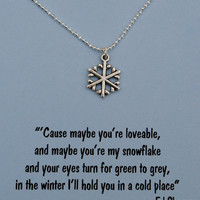 Snowflake Necklace with Ed Sheeran Lyrics