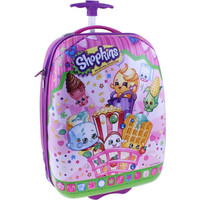 """Shopkins 16"""" ABS Hard Shell Rolling Luggage Suitcase"""