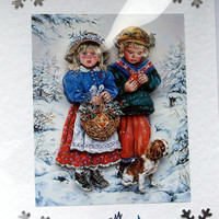 Christmas Card - Happy Christmas Hand-Crafted 3D Decoupage Card - Happy Christmas (1784)