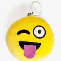 Tongue Out Emoji Keychain