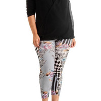 Women's Plus Size Floral Patch Print Leggings