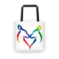 Rainbow Snuggling Does Tote Bag