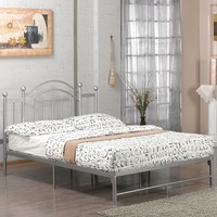 Full Size Metal Platform Bed Frame In Silver
