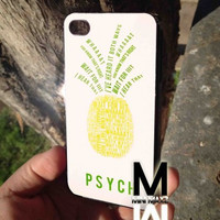 psych pinapple quotes iPhone Case And Samsung Galaxy Case