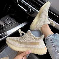 Adidas Yeezy Boost 350 V2 coconut lovers Black Angel Sports shoes-3