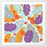 Tropical pattern 2 Art Print by naturalcolors