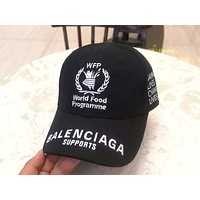 Balenciaga 2019 new embroidered classic baseball cap cap Black