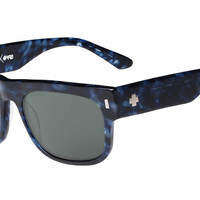 Spy - Hennepin Navy Camo Tort Sunglasses, Happy Grey Green Lenses