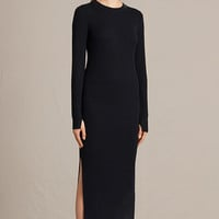 ALLSAINTS UK: Womens Lavine Crew Neck Dress (Ink Blue)