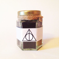 Harry Potter Deathly Hallows Wood Wick Candle