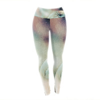 "Infinite Spray Art ""Space Dust"" Space Planet Yoga Leggings"