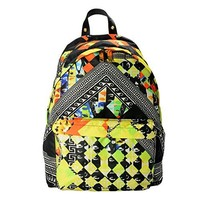Versace Versus Genuine Leather Trimmed Multi-Color Patterned Unisex Backpack