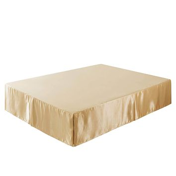 Tache Satin Golden Caramel Latte Bed Skirt (BM4578)