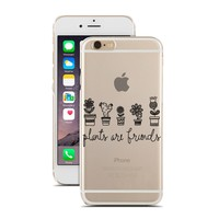 for iPhone 6 - Super Slim Case - Plants Are Friends - Flowers - Cactus - Nature - Doodle - Drawing - Sketch