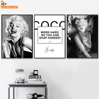 Marilyn Monroe Quotes Wall Art Canvas Painting Nordic Posters And Prints Black White Wall Pictures For Living Room Bedroom Decor