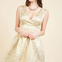 Display of Luxe A-Line Dress