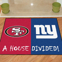"""NFL -San Francisco 49ers - New York Giants House Divided Rugs 34""""x45"""""""