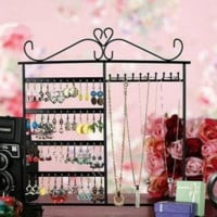 Jewelry Display Rack Holder Stand 10 Hooks 48 Holes Earrings Necklace