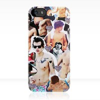 Harry Styles Shirtless Collage iPhone Case