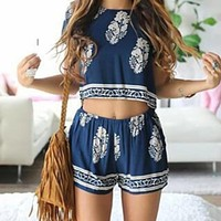 FASHION SHORT SLEEVES TWO-PIECE