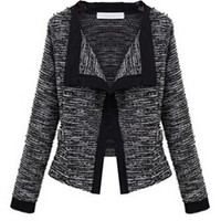 'The Jacqueline' Long Sleeve Trimmed Knitted  Blazer