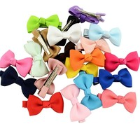 Boutique Small Ribbon Bow for Hair Baby Girls Bowknot Hairpin Children Little Hair clip Cute Hair clips Bebes arco de cabelo