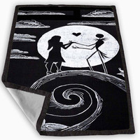 Love The Nightmare Before Christmas jack and sally Blanket for Kids Blanket, Fleece Blanket Cute and Awesome Blanket for your bedding, Blanket fleece *
