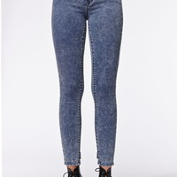 Kendall & Kylie Bow Back High Rise Skinniest Jeans - Womens Jeans - Blue -