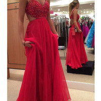 Custom Made A Line Backless Lace Prom Dresses, Lace Formal Dresses, Bridesmaid Dresses