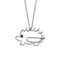 Hedgehog Paperclip Necklace