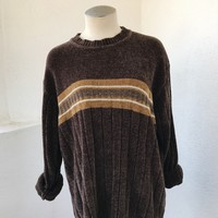 KNIGHTSBRIDGE OVERSIZE VINTAGE SWEATER- BROWN