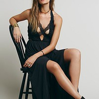 Free People Womens Black Widow Maxi Dress - Black