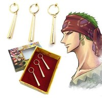 One Piece Zoro Cosplay Clip-On Earrings No Piercings Needed