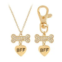 Dog BFF Necklace ( BOTH NECKLACES INCLUDED)