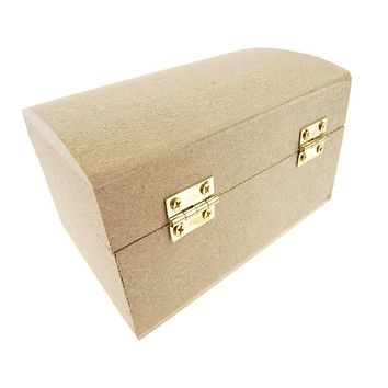 Jewelry Box Wooden Favor, Natural, 5-Inch