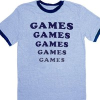 Amusement Park Games Games Games Light Blue T-shirt Tee