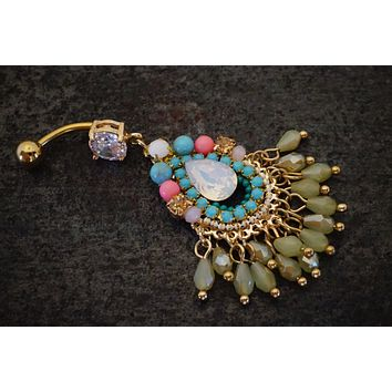 Gypsy Dangle Large Belly Button Ring