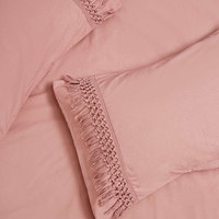 Tassel Pillow Set in Rose - Urban Outfitters
