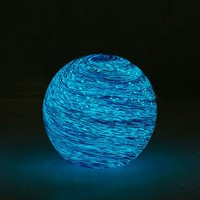 Glass Galaxy Glow-In-The-Dark Orb   Urban Outfitters