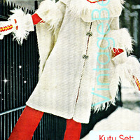 3 Patterns KUTU + Hood + Mittens 1970s Vintage KNITTING Patterns glamorous kutu set Instant Download Pdf Vintage Beso Jacket Coat Cape