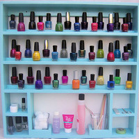 """Nail Polish Rack, Manicure Accessories Organizer Center, Over 20 Color Choices, Holds 96-114, Storage & Display In One.  """"KacyShalon"""""""