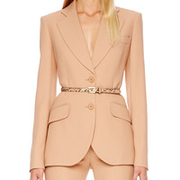 Two-Button Crepe Jacket,