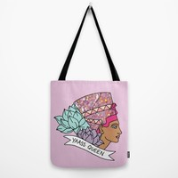 Yas Queen Eyptian Broad City Print Tote Bag by BigKidult | Society6
