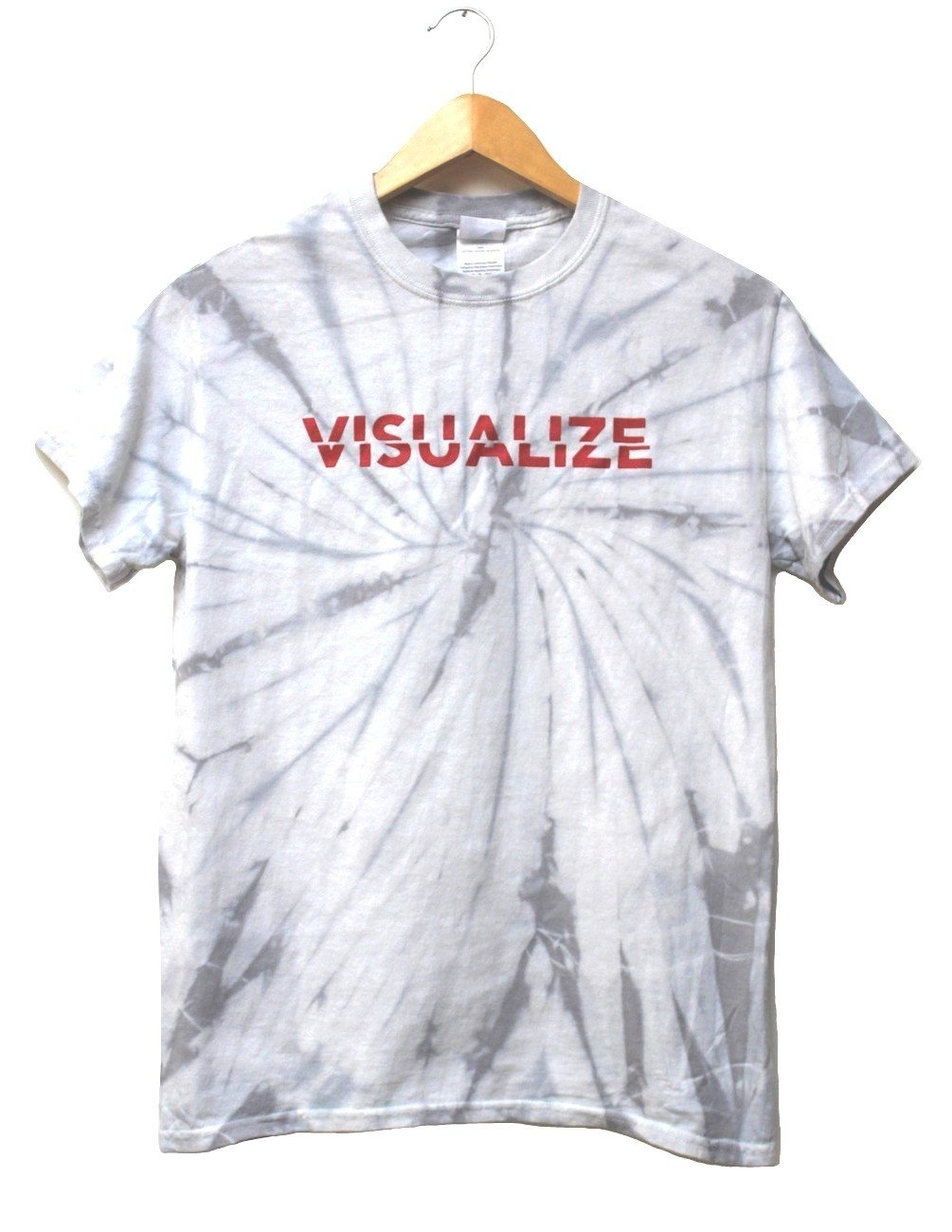 Image of Visualize Silver Gray Tie-Dye Graphic Unisex Tee