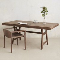 Handcarved Gallery Table by Anthropologie Grey One Size Furniture